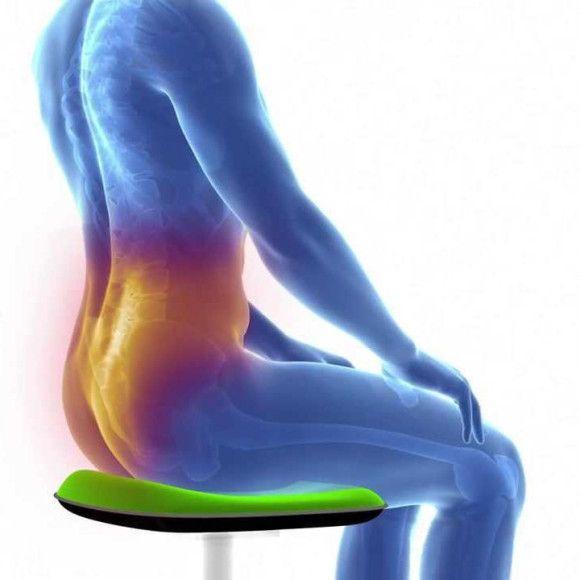 Keď sedíme v nestabilnej polohe sme nútení udržiavať rovnováhu, ktorú zabezpečujú autochtónne hlboké svaly chrbtice. Ich aktivita je väčšia vďaka ustavičným podnetom z nestabilnej plochy. Vplyvom gravitácie sa naše telo uvoľní a tlak na medzistavcové platničky sa rozloží. Prenesením váhy trupu dopredu na dolné končatiny (pri písaní, práci s PC a pod.) nám vzduchová bublina vytláča sedaciu časť, čo vytvára správnu polohu panvy, a tým aj správne držanie v driekovej časti.  http://www.odora.eu