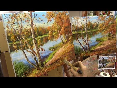 How to Paint Hollyhocks - Online Art Courses Fast Motion Oil Painting Video by Bill Inman - YouTube