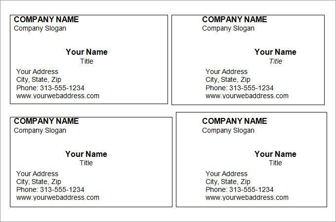 Word Business Card Templates 44 Free Blank Business Card Templates Ai Wo Free Printable Business Cards Business Card Template Word Free Business Card Templates