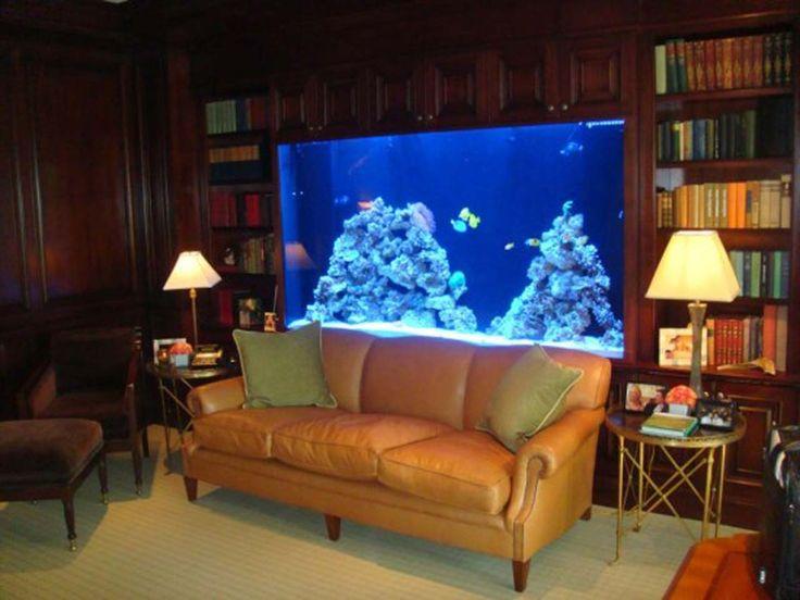 Aquarium Decoration Ideas For Living Room ~ http://www.lookmyhomes.com/creative-aquarium-decoration-ideas/