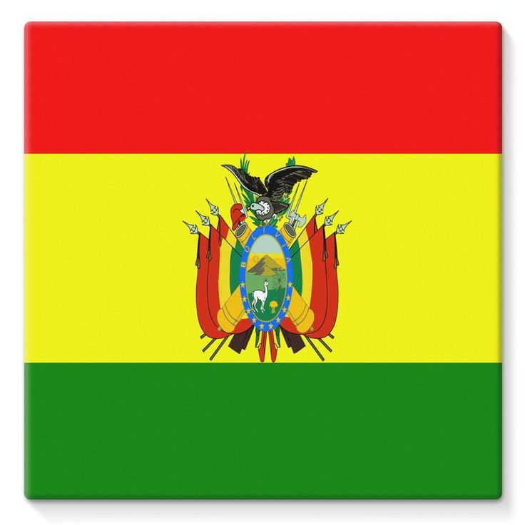 Flag of Bolivia Stretched Eco-Canvas