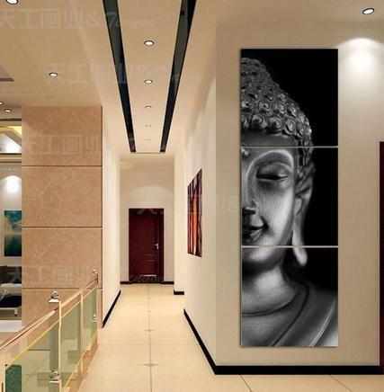 3 Piece Buddha Printed Canvas