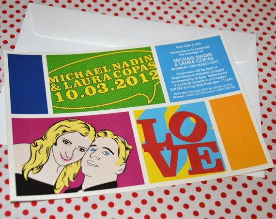 DIY Pop Art Invite By MrsMoriartyB On Etsy 5000