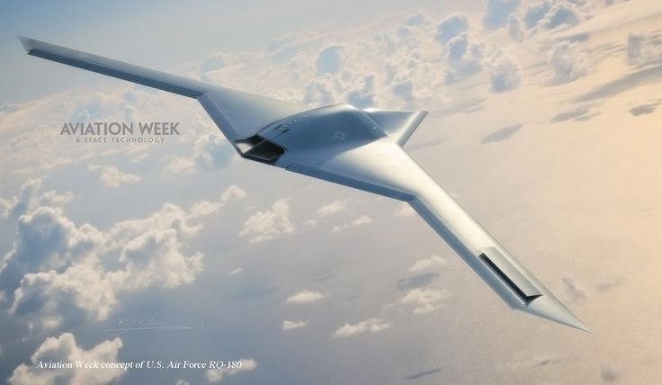 Conceptual image of an RQ-180 developed from sources by Aviation Week and Space Technology. Image: Aviation Week and Space Technology