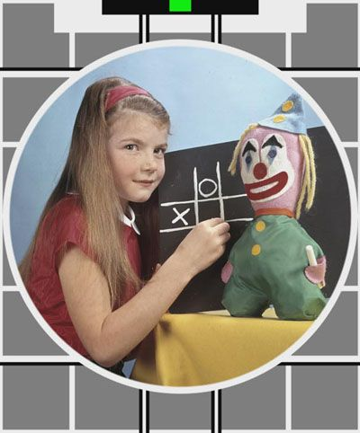 BBC Test card. Waiting for kids tv to start on a Saturday morning..... !! that clown doll is the reason I hate clowns, it freaked me out for years lol it's so creepy