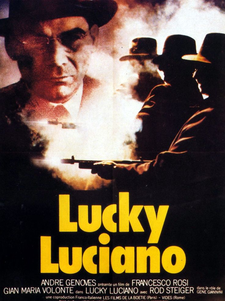 "344. ""Lucky Luciano"" deFrancesco Rosi  avec  Gian Maria Volonte, Rod Steiger. Italie. 1973"