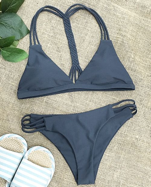 Your feeling's gonna be great! You can take this strappy bikini with you in hot…
