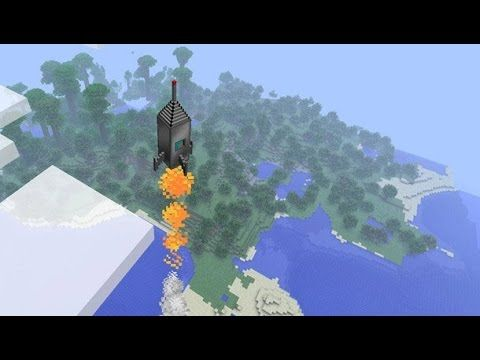 Minecraft: how to make a rocket ship that goes to the moon - (minecraft ...