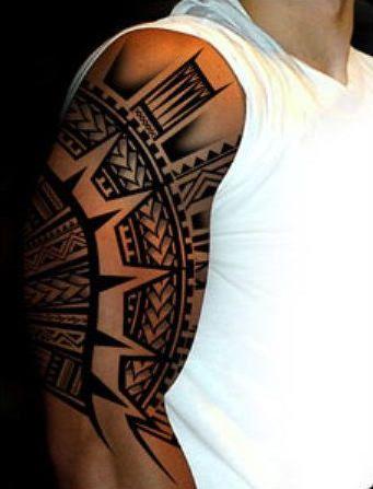 Samoan Tribal Tattoo #samoan #tribal #sleeve
