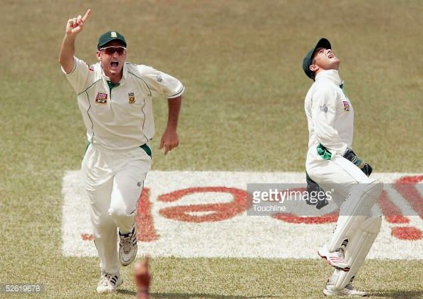 News Photo : Graeme Smith and Mark Boucher of South Africa...