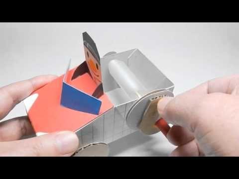 クリアファイルゼンマイカート   the Plastic folder spring cart