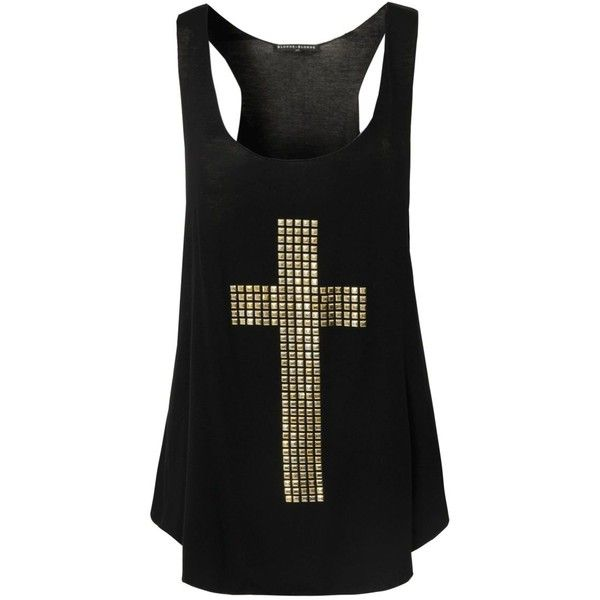 BLONDE  BLONDE Stud Cross Vest ($24) ❤ liked on Polyvore