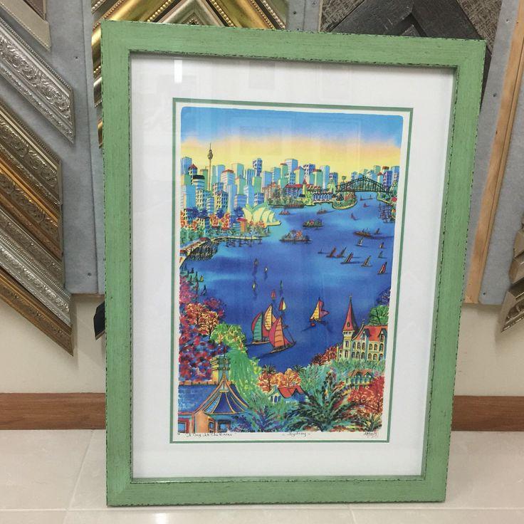 Colourful print - custom picture framing Perth