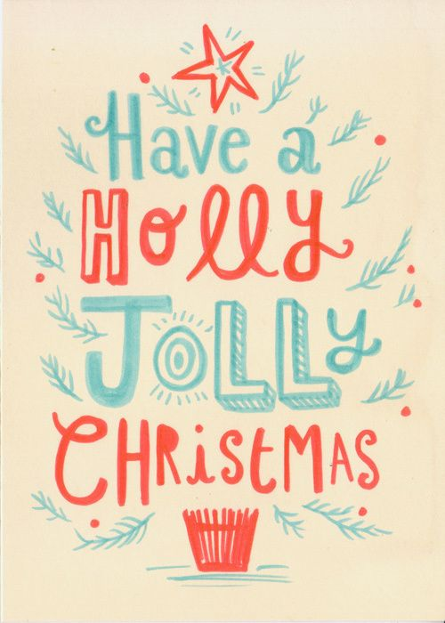 Hand lettered Christmas cards on Behance