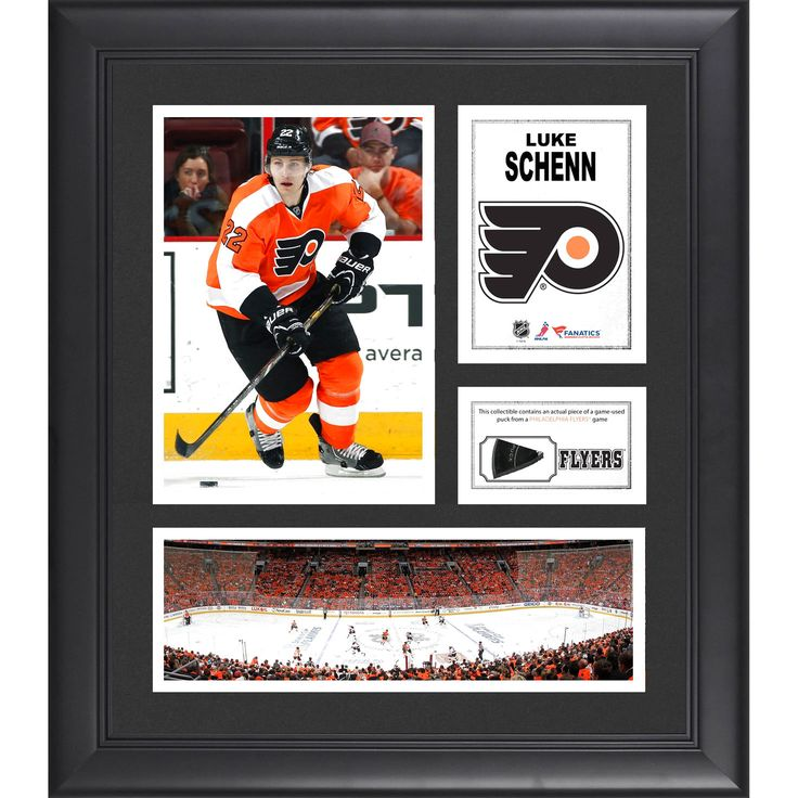 """Luke Schenn Philadelphia Flyers Fanatics Authentic Framed 15"""" x 17"""" Collage with Piece of Game-Used Puck - $63.99"""