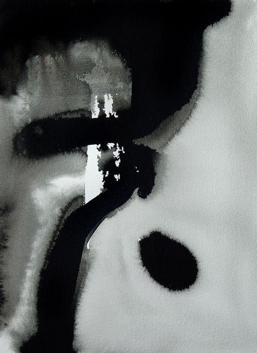 """Winter "" by Bianka Guna Art 2005 Series   Acrylic On Paper   15"" x 11"""