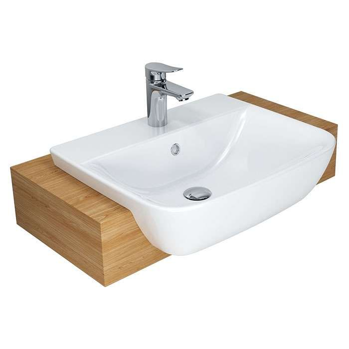 CYGNET SEMI RECESSED BASIN 500 X 450 1TH