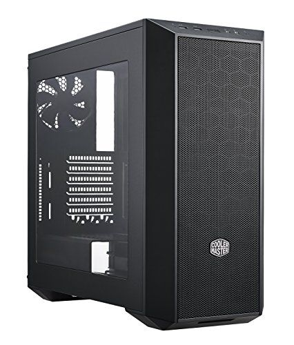 "Cooler Master MasterBox 5 Case Black Edition Computer Case ""MCX–B5S1–KWNN–11, USB 3.0, ATX, microATX, Mini–ITX, Window Side Panel, Mesh Front Panel, Black"" - PC Components - PC Geeks 