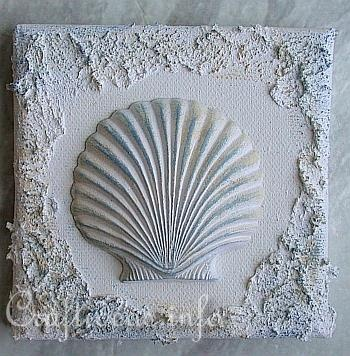 Plaster of Paris Crafts - Miniature Seashells and Starfish Pictures