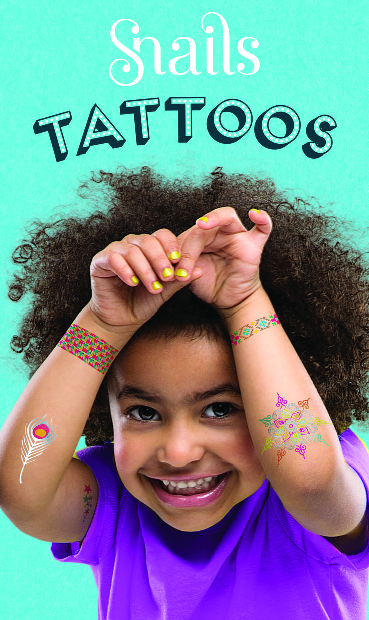 New Product: Snails Washable Tattoos!!