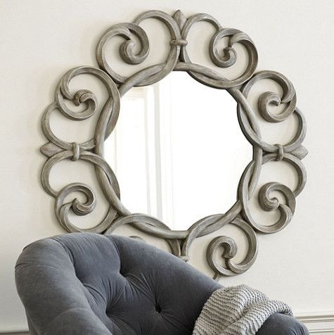Entwined Fleur De Lis Mirror - traditional - mirrors - Ballard Designs