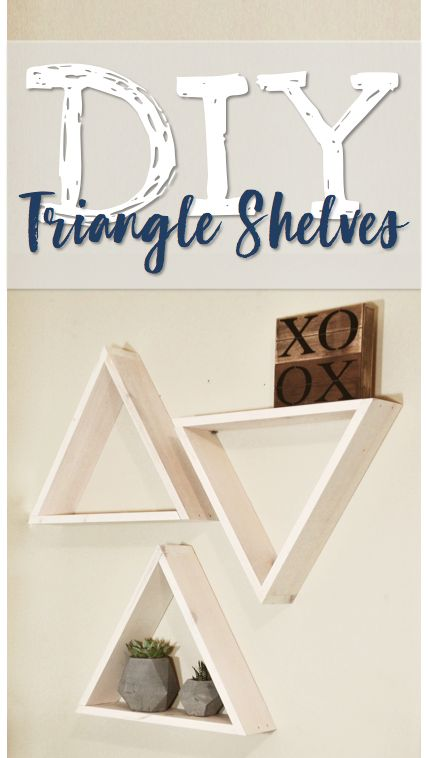 In this DIY video, I will be showing you how to make cute triangle shaped shelves for you home and nursery. These geometric shelves are super trendy and easy to make!