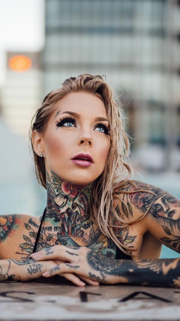 best iphone x wallpaper Vintage Tattoo Girl Wallpaper