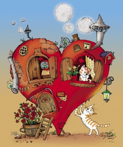 Авторские галереи - Журавлева Маргарита Федоровна / День Святого Валентина / Графика [Другое]