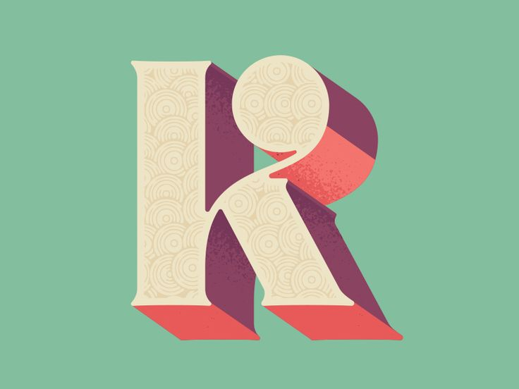 K drop cap by Andy Anzollitto, lettering, type, colour, design, print, letter, typography
