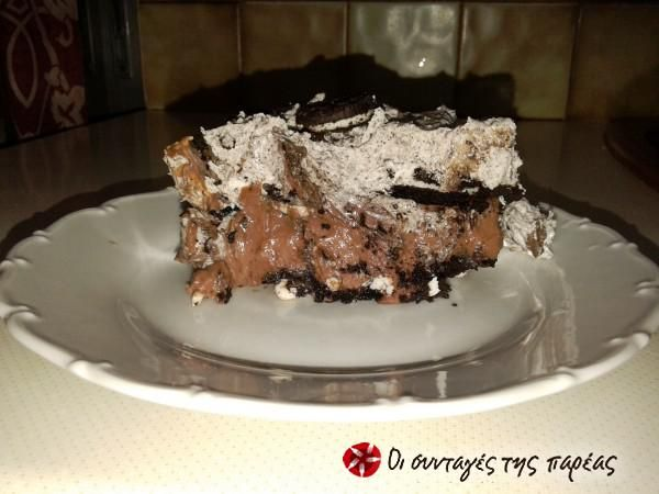 Τέλεια τούρτα μπισκότου OREO #sintagespareas