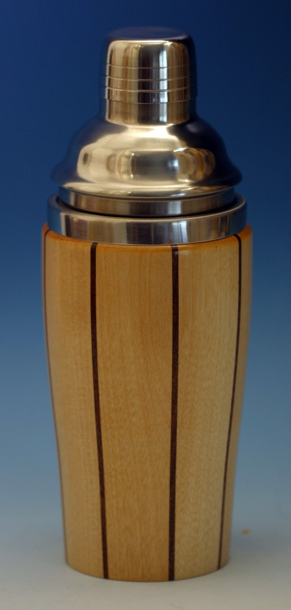 Father's Day gift for the man who never wants anything...my husband!!  Birch with Walnut Accents Wooden Cocktail Shaker...