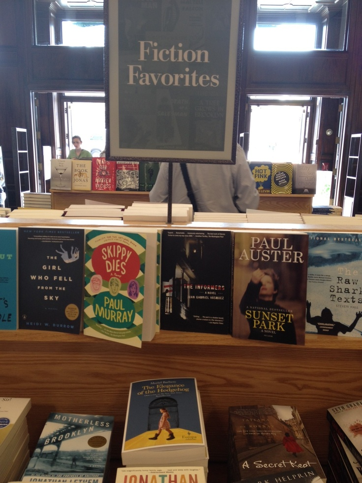 Spotted: The Elegance of the Hedgehog  by Muriel Barbery in Fiction Favorites at Barnes and Noble Union Square