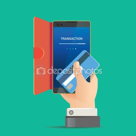 Vector illustration for money transaction, technology, business, mobile banking and mobile payment — Stock Vector © kupritz #99514118