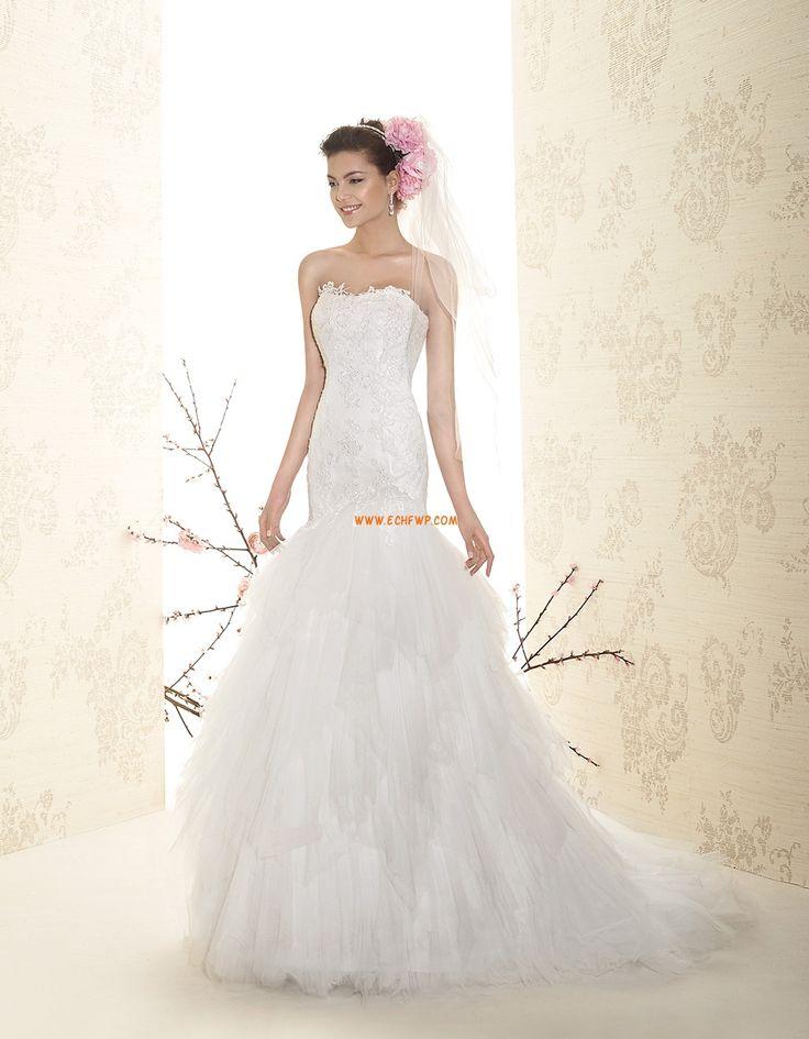 Trombita/Hableány Court uszály Pánt nélküli Menyasszonyi ruhák 2015
