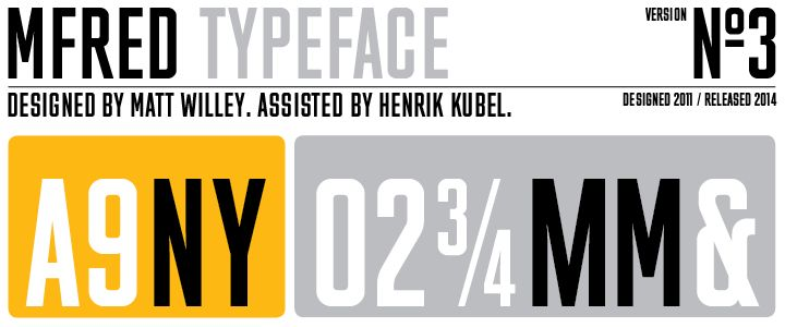 MFRED typeface