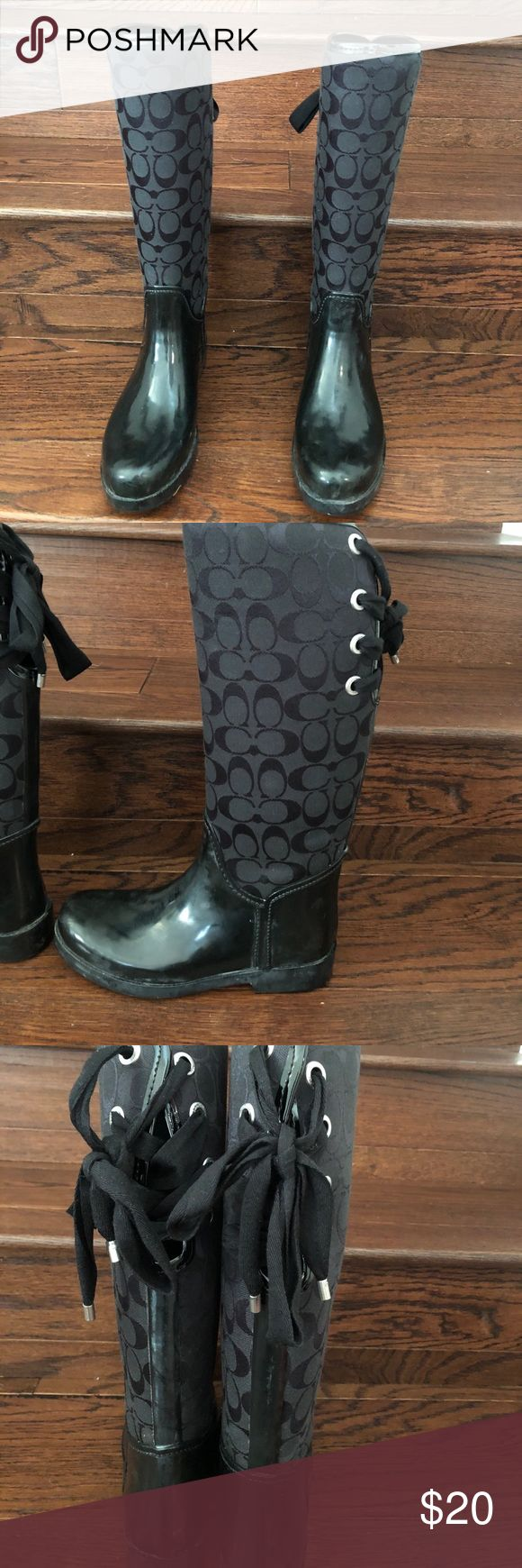 Best 25 Coach Rain Boots Ideas On Pinterest Coach Boots