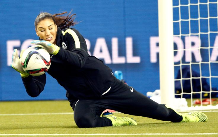 Hope Solo from USA Women's World Cup team