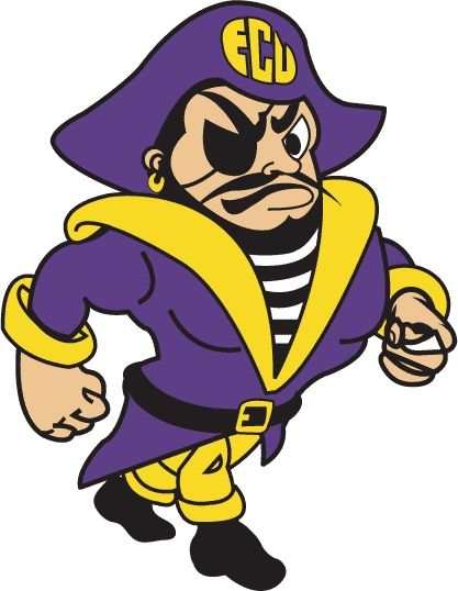 This is how Petey the pirate looked when I was at ECU!!