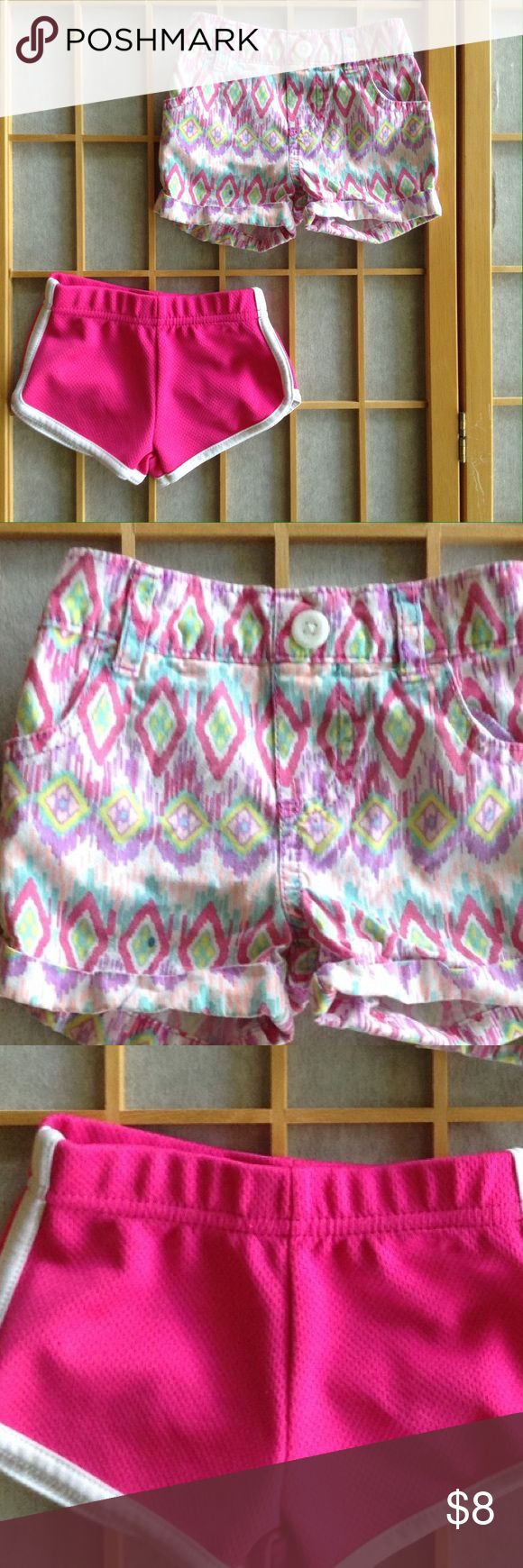 2 shorts Tribal shorts and jogging shorts. Gently used. Bottoms Shorts