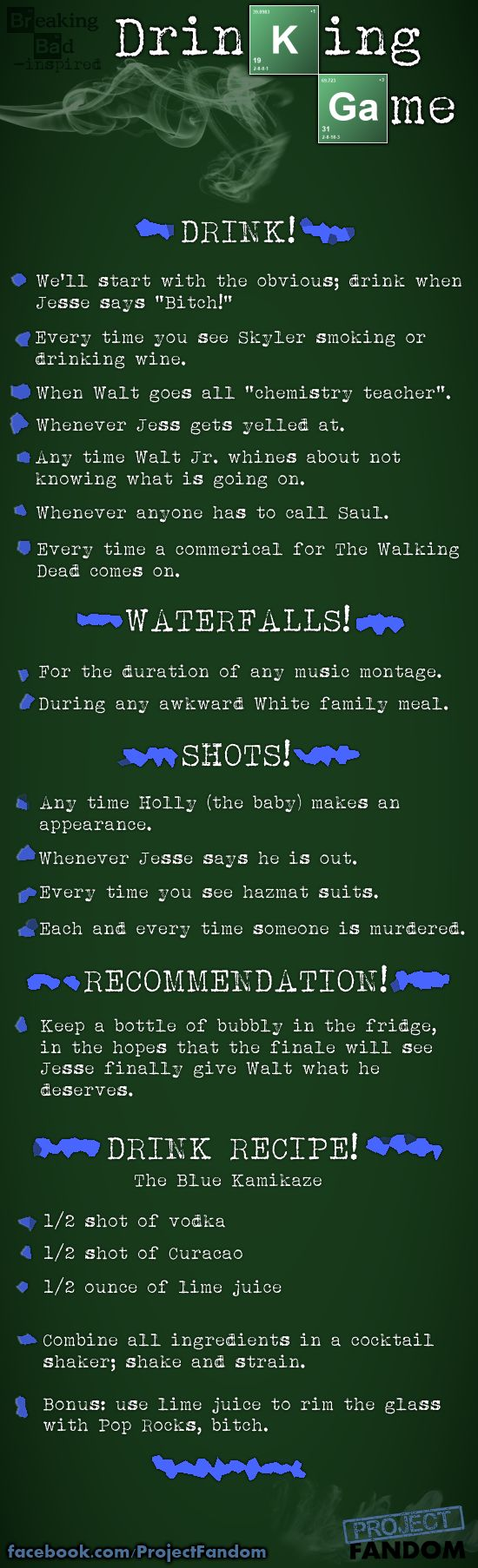 Breaking Bad Drinking Game at Project Fandom
