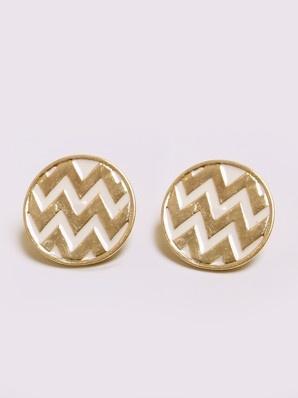 chevron stud earrings