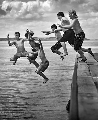 jumping in is easier when you have the support of your friends!