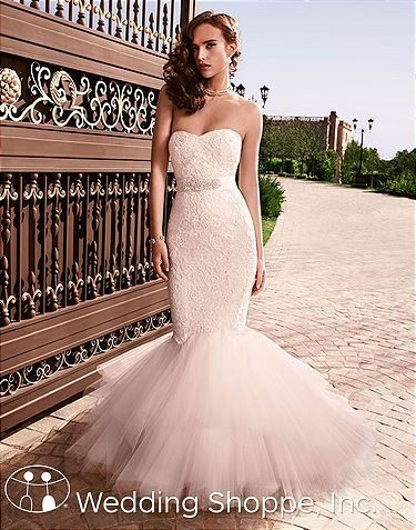 Casablanca Bridal Gown 2129 #fitandflareweddingdresses