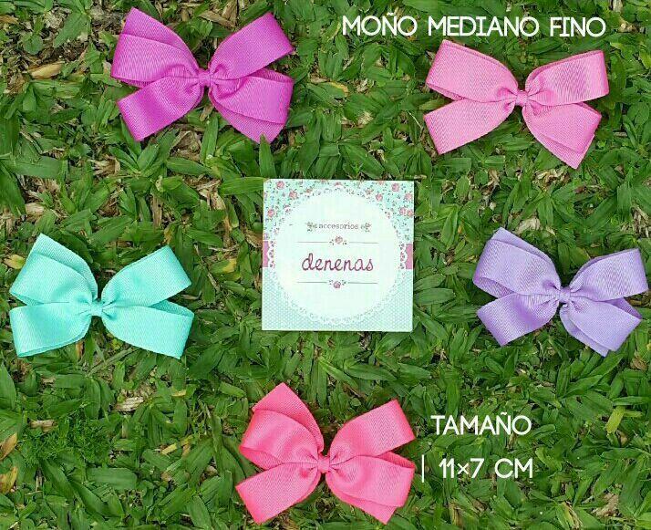 """Moño mediano fino. """"Grossgrain bows"""" tiffany - rosa oscuro - rosa chicle - lila iris - coral - Moños para niñas - Bows for girls  #accesorios para nenas @denenasaccesorios"""