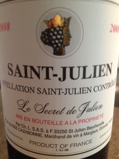 Check out this Le Secret De Julien Saint Julien 2008 from Ulysse Cazabonne on Vivino. 1 users rated it 4.0 out of 5 stars.