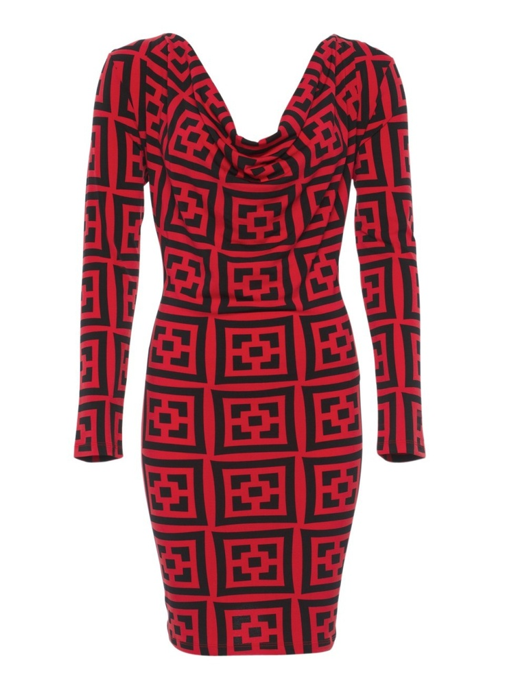 Red Black & Bold. I can so see this working with my favourite single button, flare bottom black Howard Showers jacket.