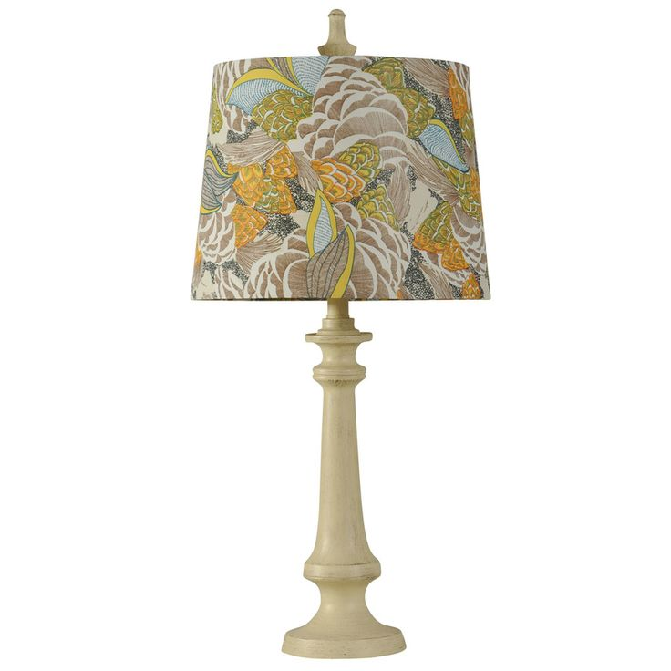 Stylecraft home collection 29 in 3 way switch taos white indoor table lamp with