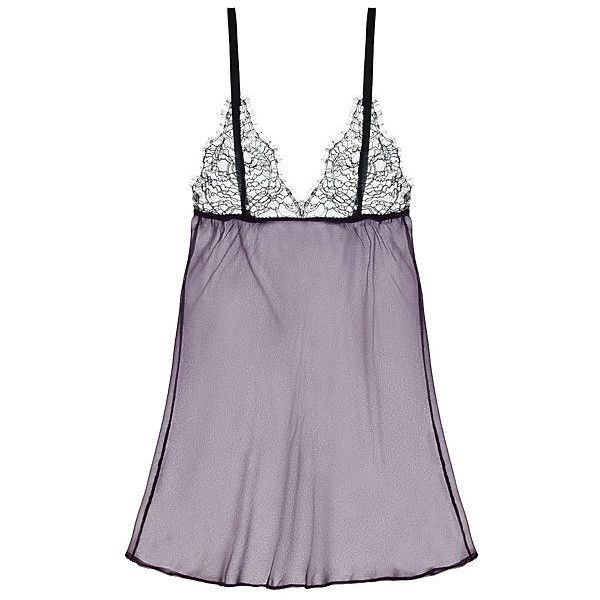 Journelle Ondine Babydoll ($98) ❤ liked on Polyvore featuring intimates, babydoll chemise, babydoll lingerie, see through lingerie, lace chemise and lacy lingerie