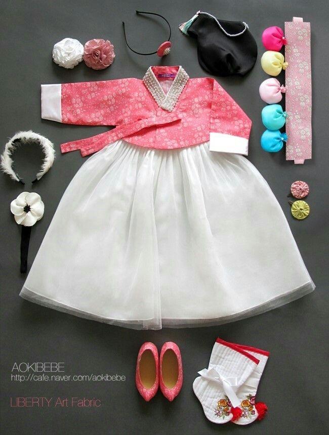 So cute, little girls hanbok