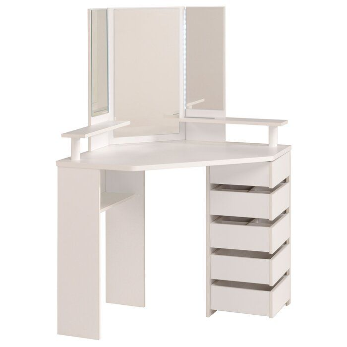 Diop Makeup Vanity With Mirror Corner Dressing Table Dressing Table Mirror Dressing Table